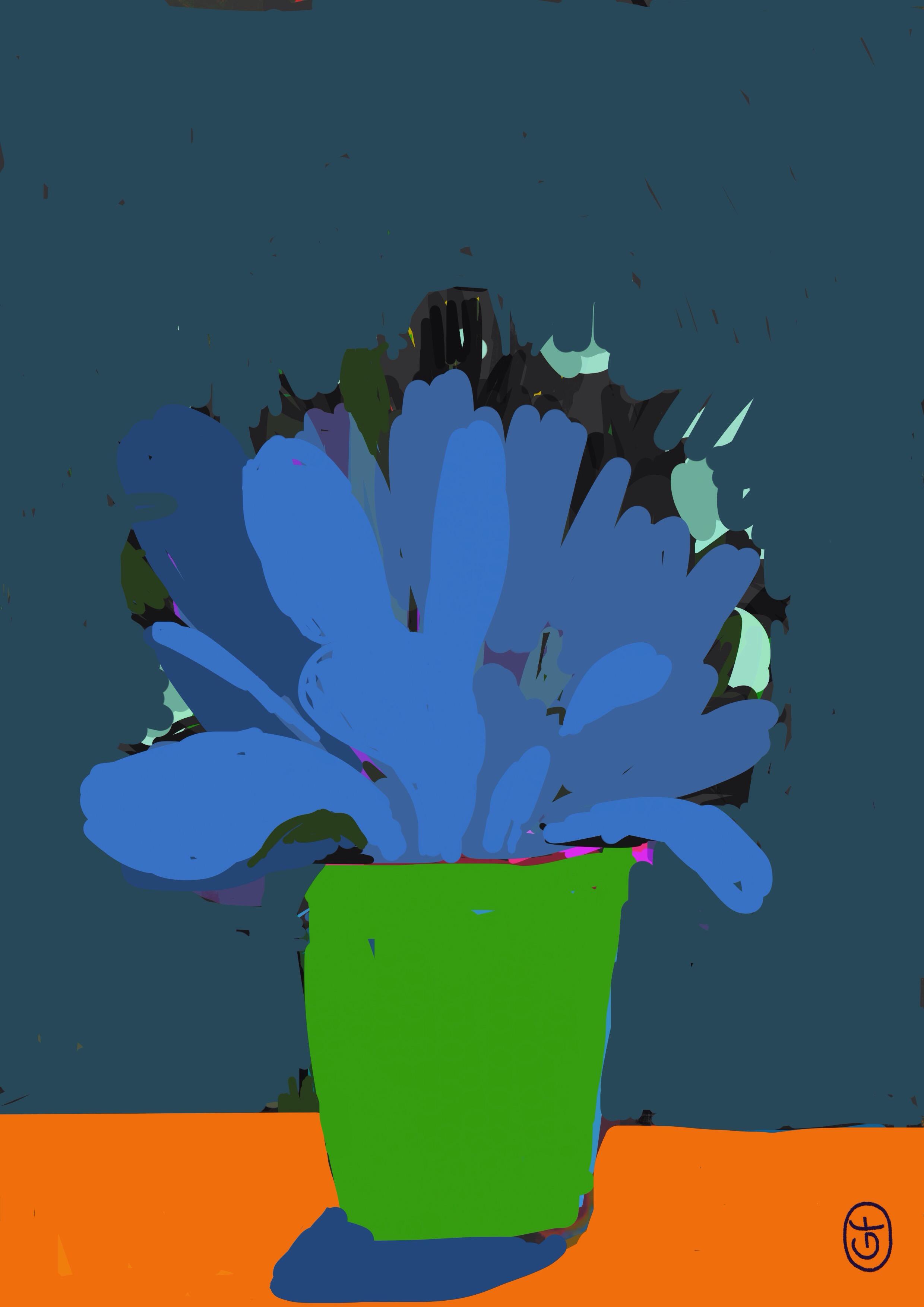 Fleurs en pot – sur iPad